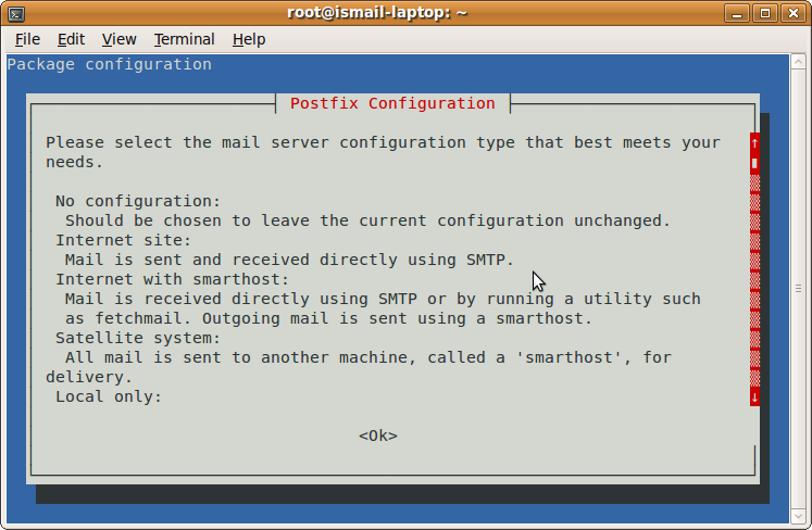Configuring Mail Services Using Postfix in Ubuntu Jaunty